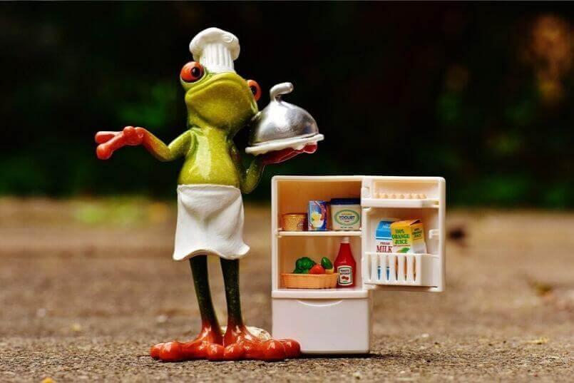 プロテインが保存された冷蔵庫